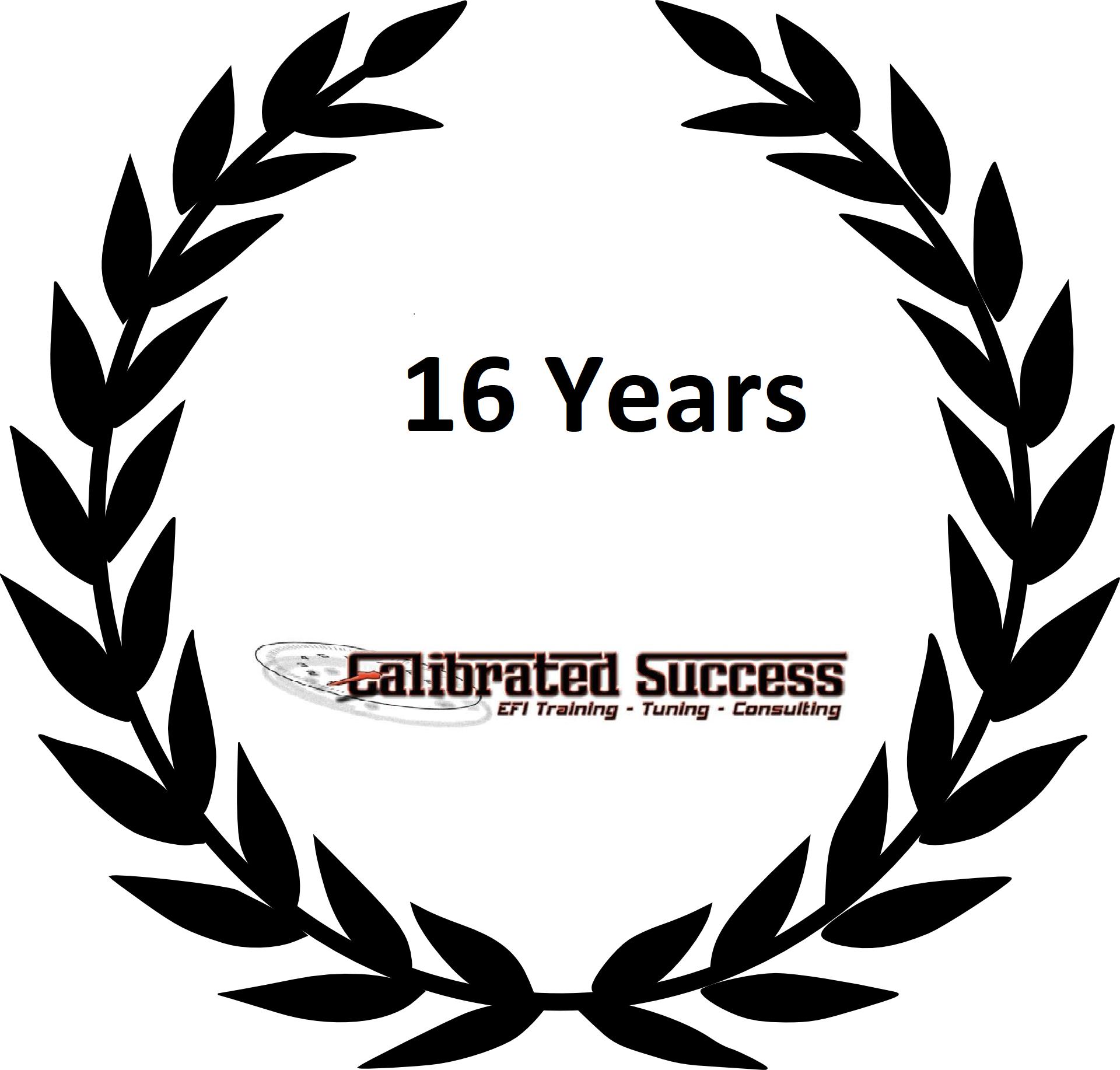 16 years logo